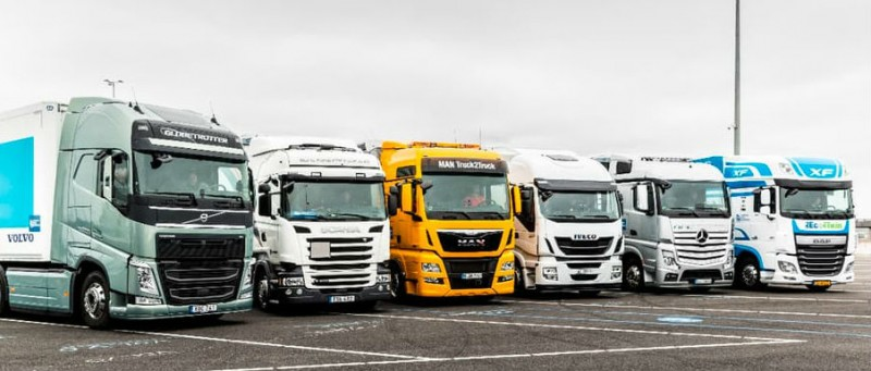 mercedes, man, iveco, volvo, scania and daf complete the eu truck